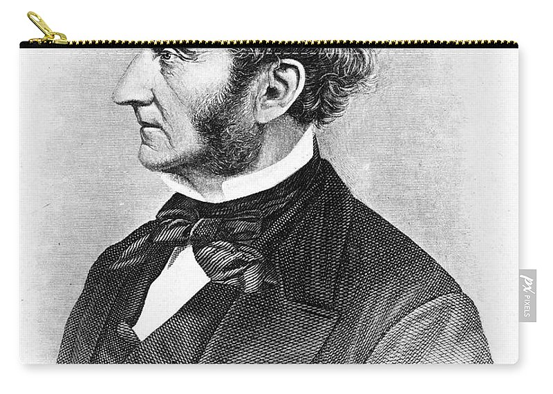 19th Century Carry-all Pouch featuring the photograph John Stuart Mill by Granger