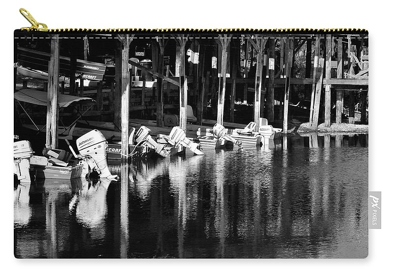 Boat Carry-all Pouch featuring the photograph Johnson Johnson And Johnson by Kari Tedrick