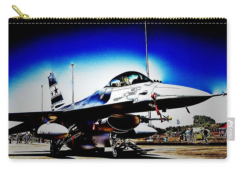 Fighter Jet Carry-all Pouch featuring the photograph Joint Operations V2 by Douglas Barnard