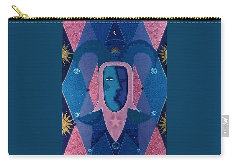 Royal Carry-all Pouch featuring the painting Joker by Richard Laeton