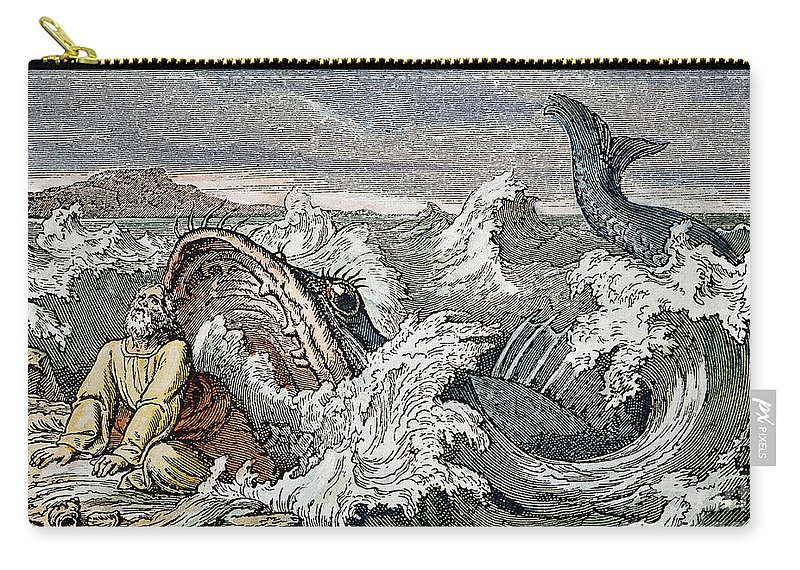 Biblical Carry-all Pouch featuring the photograph Jonah by Granger