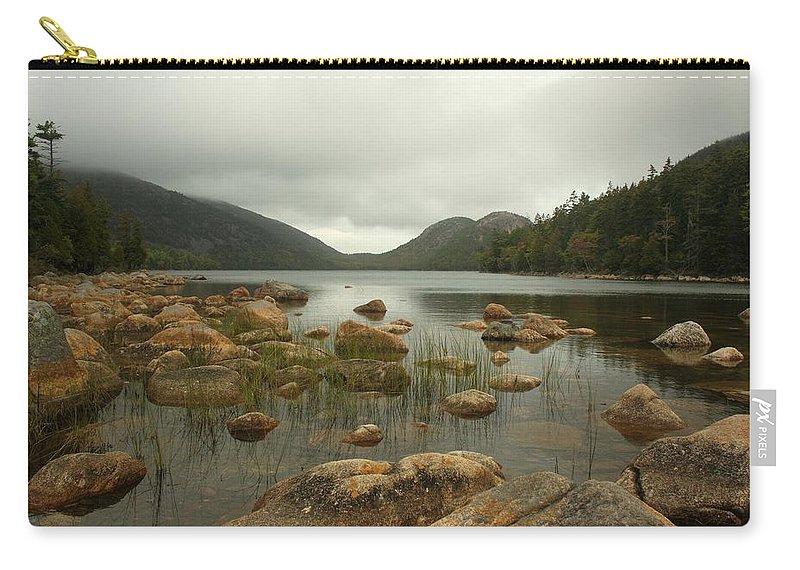 Mount Desert Island Carry-all Pouch featuring the photograph Jordans Pond by Robert McCulloch