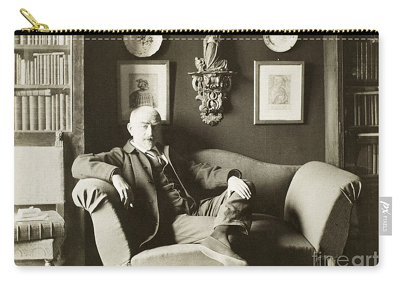 19th Century Carry-all Pouch featuring the photograph Joris Karl Huysmans by Granger