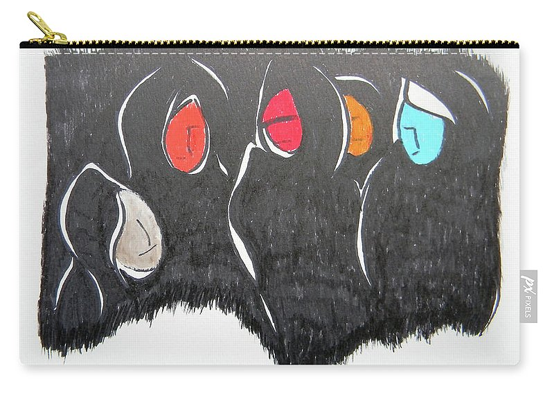 Judgement Day Carry-all Pouch featuring the painting Judgement Day by Marwan George Khoury