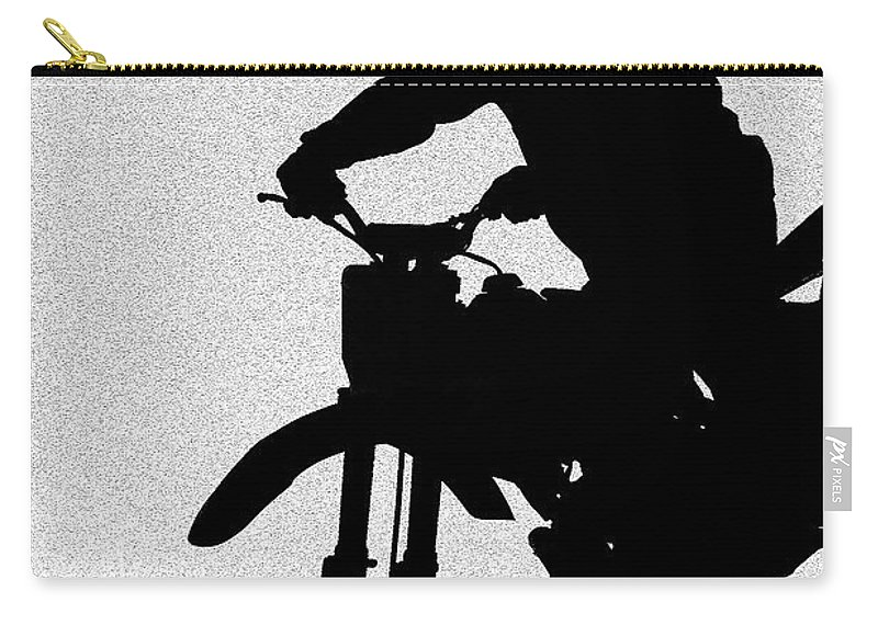 Motorcycle Carry-all Pouch featuring the photograph Jumping High by Carolyn Marshall
