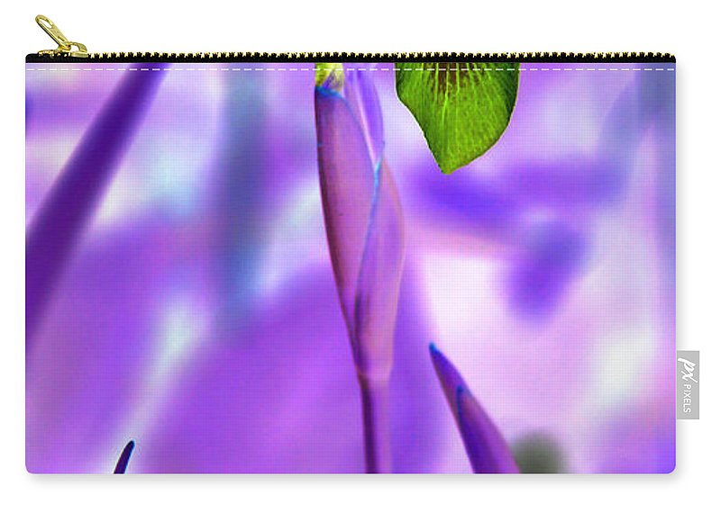 Iris Carry-all Pouch featuring the photograph Jungle Iris by Carolyn Stagger Cokley