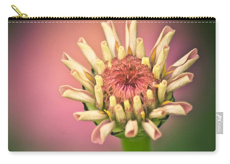 Flower Carry-all Pouch featuring the photograph Just A Little Pink by Trish Tritz
