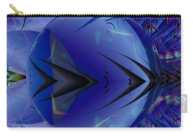 Ultra Fractal Carry-all Pouch featuring the digital art Just An Ultra Fractal Bubble by Mario Carini