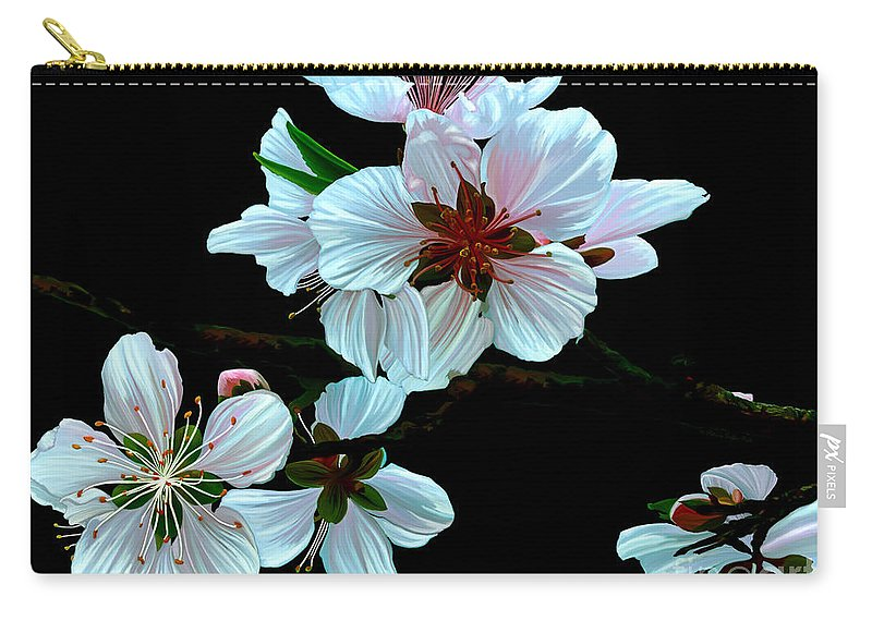 Fine Art Carry-all Pouch featuring the painting Just Peachy by Patricia Griffin Brett