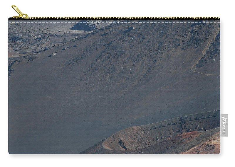 Aloha Carry-all Pouch featuring the photograph Ka Lua O Ka Oo Haleakala Volcano Maui Hawaii by Sharon Mau