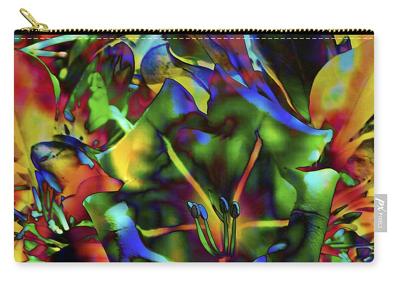 Fine Art Print Carry-all Pouch featuring the mixed media Kaleidoscope by Patricia Griffin Brett