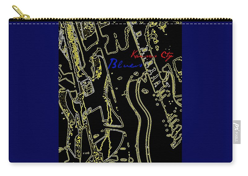 Music Carry-all Pouch featuring the photograph Kansas City Music by Chris Berry