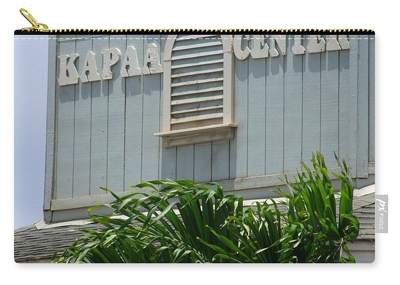 Mary Deal Carry-all Pouch featuring the photograph Kapaa Trade Center by Mary Deal