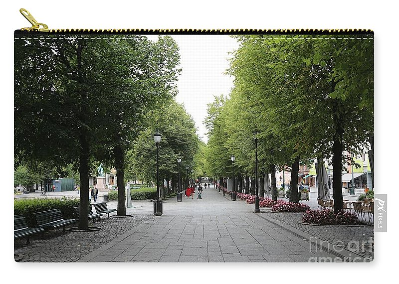 Oslo Carry-all Pouch featuring the photograph Karl Johans Gate by Carol Groenen