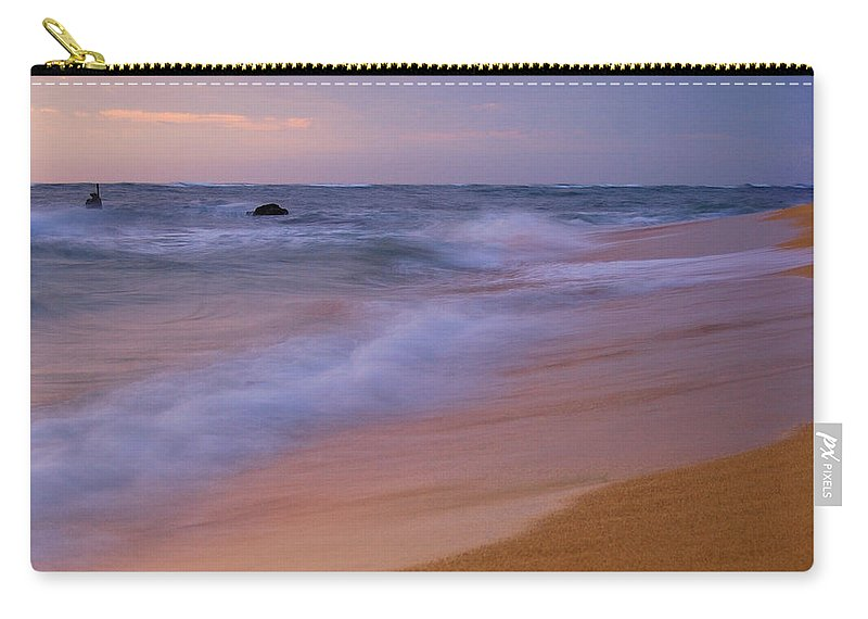 Kauai Carry-all Pouch featuring the photograph Kauai Beach 0821 by Michael Peychich