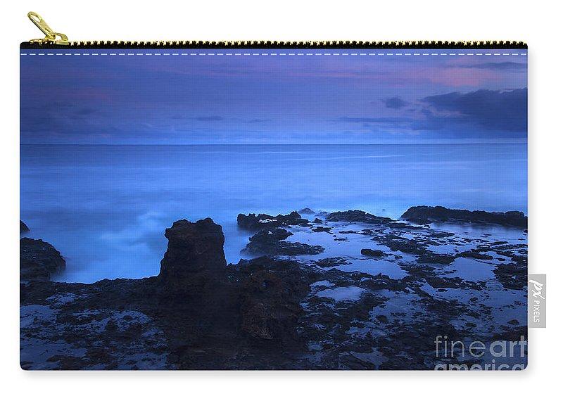 Koloa Carry-all Pouch featuring the photograph Kauai Twilight by Mike Dawson