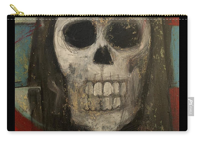 Halloween Carry-all Pouch featuring the painting Keep Hal In Halloween by Tim Nyberg