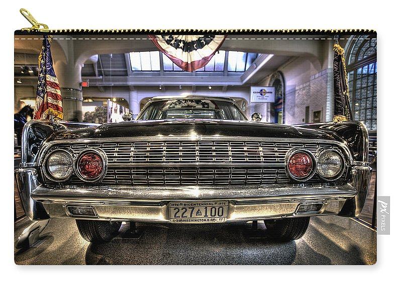 Carry-all Pouch featuring the photograph Kennedy Limo by Nicholas Grunas