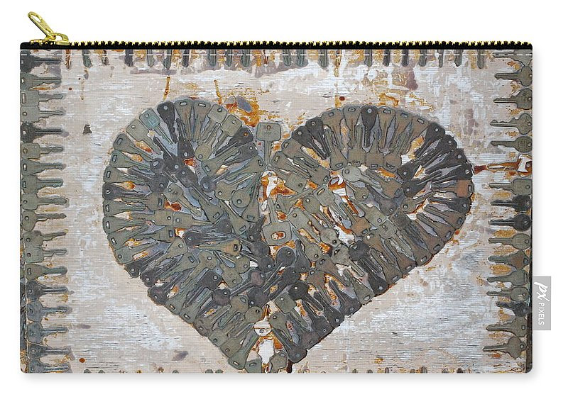 Key Carry-all Pouch featuring the photograph Key To My Heart by Beth Gates-Sully