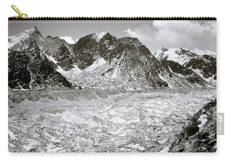 Himalaya Carry-all Pouch featuring the photograph Khumbu Glacier by Shaun Higson