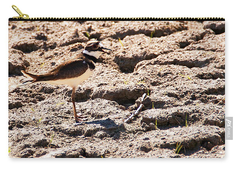 Wildlife Carry-all Pouch featuring the photograph Killdeer Pitching A Fit by Edward Peterson