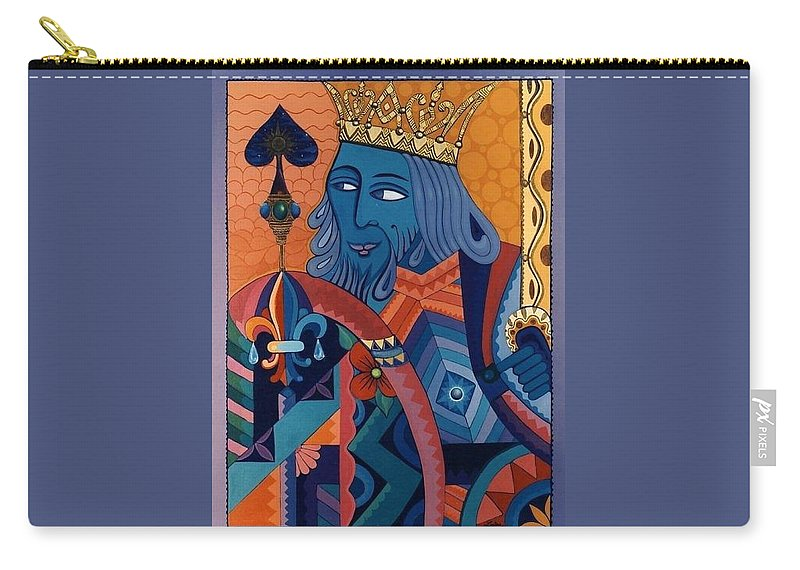 Abstract Carry-all Pouch featuring the painting King by Richard Laeton
