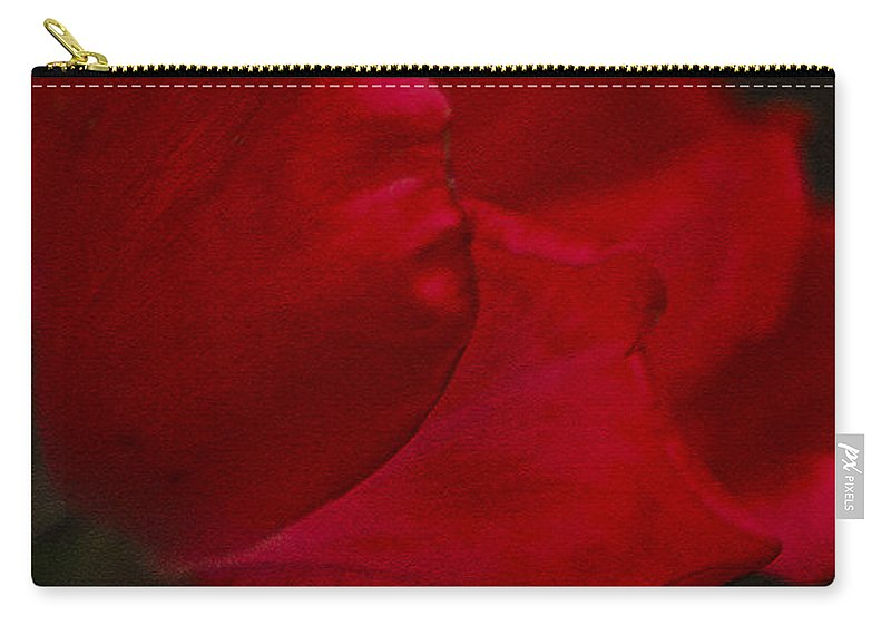 Rose Carry-all Pouch featuring the photograph Kissed by Kim Henderson
