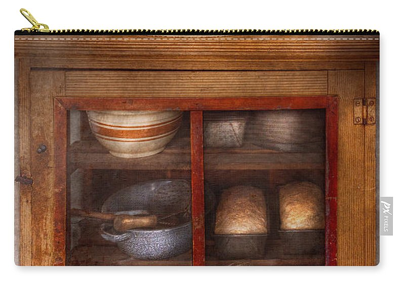 Kitchen Carry-all Pouch featuring the photograph Kitchen - The Cooling Cabinet by Mike Savad