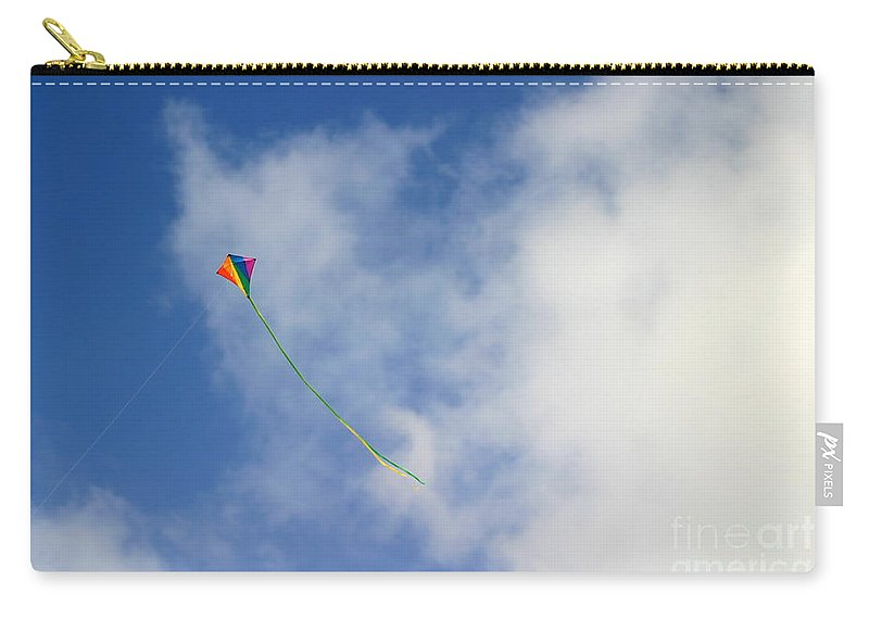 Outside Carry-all Pouch featuring the photograph Kite by Henrik Lehnerer
