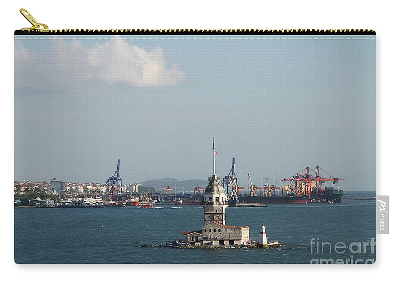 Leander Tower Carry-all Pouch featuring the photograph Kiz Kulesi - Leander Tower Istanbul by Christiane Schulze Art And Photography