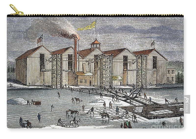 1846 Carry-all Pouch featuring the photograph Knickerbocker Ice Co., C1846 by Granger