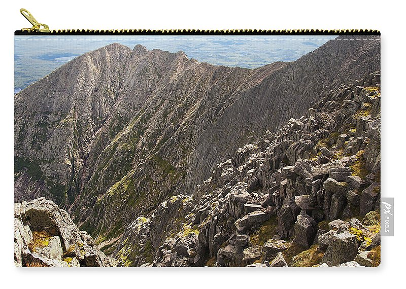 Cliff Carry-all Pouch featuring the photograph Knife Edge Mount Katahdin Baxter State Park by Glenn Gordon