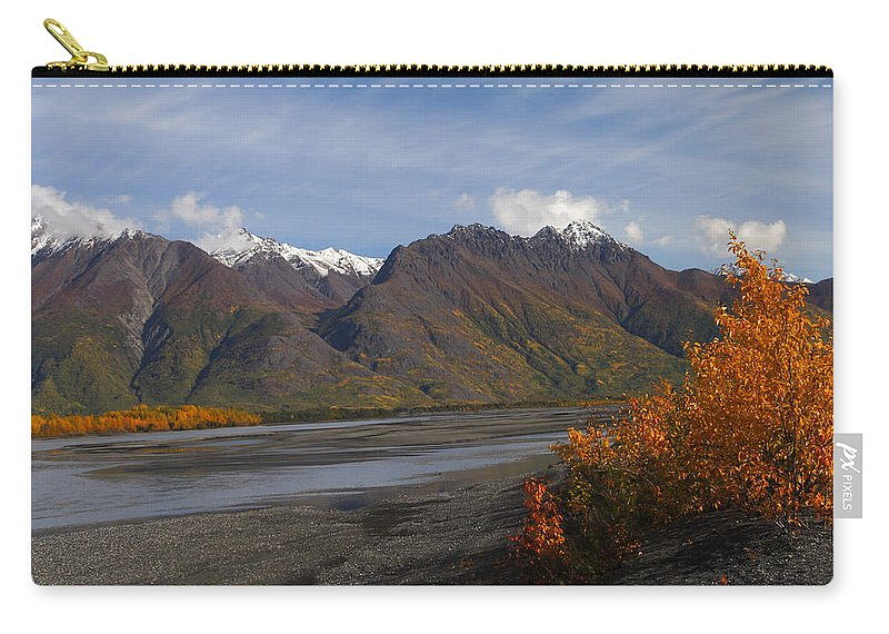 Doug Lloyd Carry-all Pouch featuring the photograph Knik River by Doug Lloyd