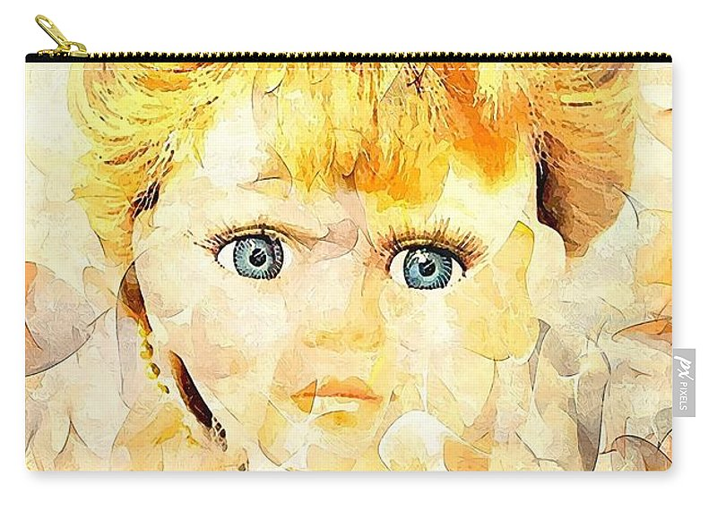 Graphics Carry-all Pouch featuring the digital art L001 by Marek Lutek