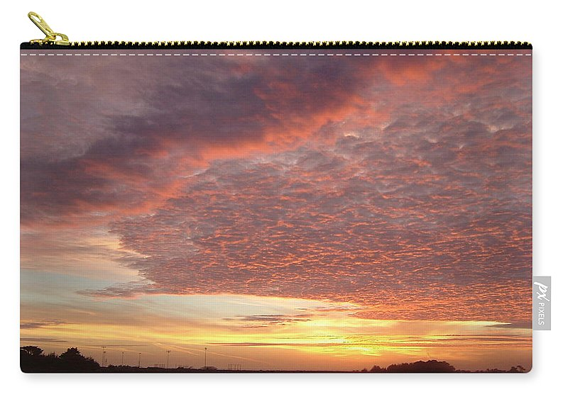 Sky Carry-all Pouch featuring the photograph Lacy Pink Sunset by Susan Wyman