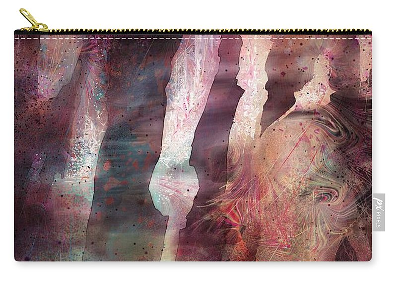 Fantasy Carry-all Pouch featuring the painting Lady Of The Mist by Rachel Christine Nowicki