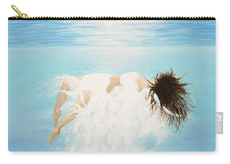 Water Carry-all Pouch featuring the painting Lady Of The Water by Kume Bryant