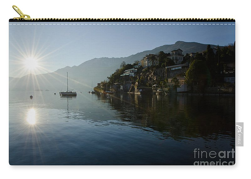 Lake Carry-all Pouch featuring the photograph Lake And Sunlight by Mats Silvan