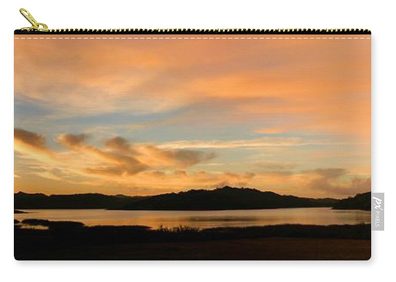 Water Carry-all Pouch featuring the photograph Lake Casitas Sunrise by Henrik Lehnerer