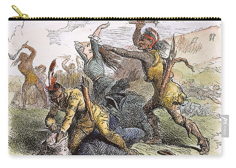 1757 Carry-all Pouch featuring the photograph Lake George: Massacre, 1757 by Granger