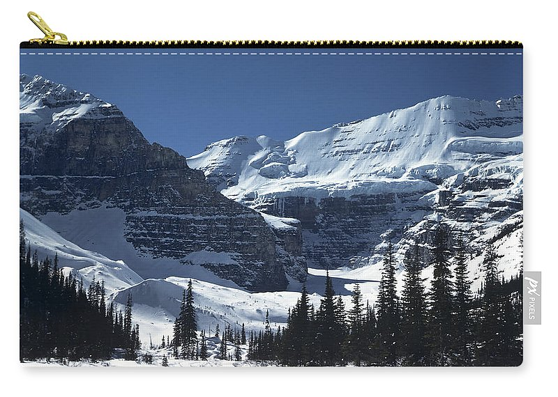 Alberta Carry-all Pouch featuring the photograph Lake Louise Glacier by Roderick Bley