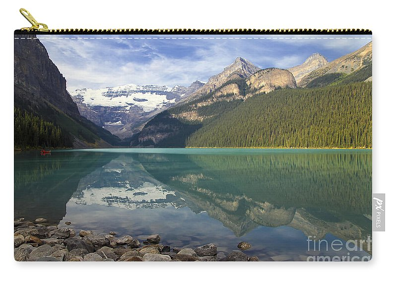 Lake Louise Carry-all Pouch featuring the photograph Lake Louise Splendour by Teresa Zieba
