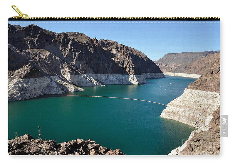 Lake Carry-all Pouch featuring the photograph Lake Mead By Hoover Dam by Gary Whitton