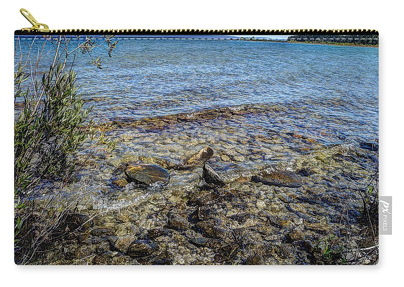 Water Carry-all Pouch featuring the photograph Lake Michigan 1 by Janice Adomeit