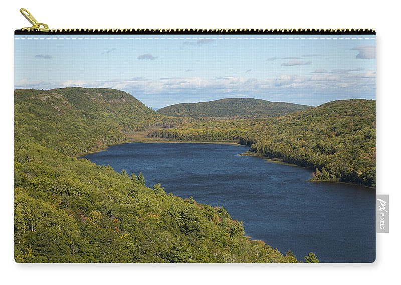 Lake Carry-all Pouch featuring the photograph Lake Of The Clouds 1 by John Brueske