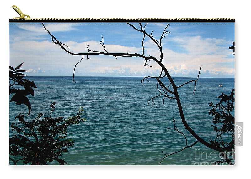 Lake Ontario Carry-all Pouch featuring the photograph Lake Ontario Near Chimney Bluffs by Rose Santuci-Sofranko