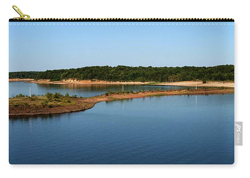 Lake Carry-all Pouch featuring the photograph Lake Sardis One by Joshua House