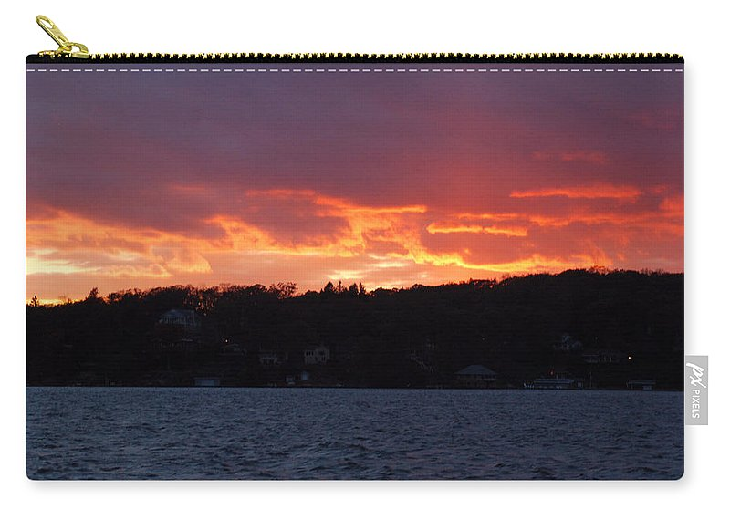 Water Carry-all Pouch featuring the photograph Lake Sunset by Richard Bryce and Family