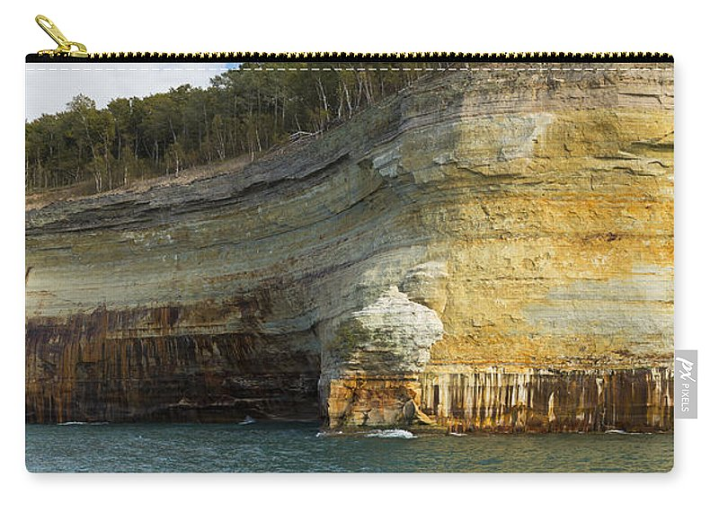 Great Carry-all Pouch featuring the photograph Lake Superior Pictured Rocks 8 by John Brueske