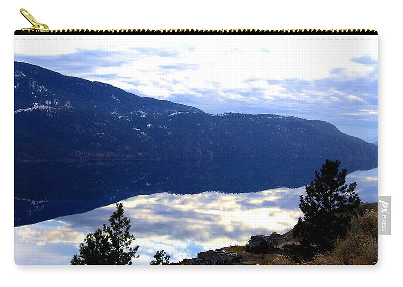 Lakeside Carry-all Pouch featuring the photograph Lakeside Living by Will Borden